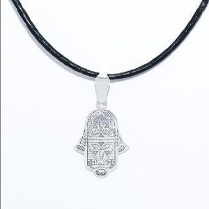 Jewelry - Hamsa Hand Of Fatima .999 Silver Pendant SP0101